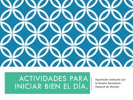 Acta para Iniciar Bien el Día Morelos