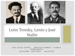 León Trotsky, Lenin y José Stalin