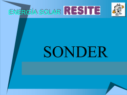 """Recomendaciones Solares """" Sonder"""