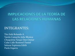 tema-4-implicaciones de la teoria de las relaciones humanas
