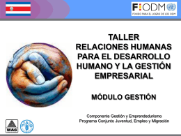 Relaciones Humanas, PPTT