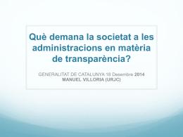 El Open Government ¿Un nuevo paradigma de Gobierno? Manuel