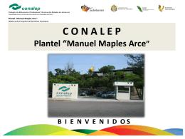 Plantel Manuel Maples Arce. - Conalep Manuel Maples Arce
