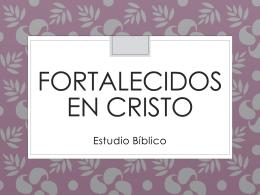 Fortalecidas en Cristo