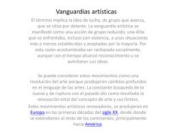 Clase Presencial Vanguardias siglo XX