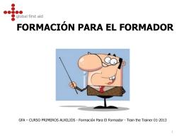 FORMACIÓN PARA EL FORMADOR 01