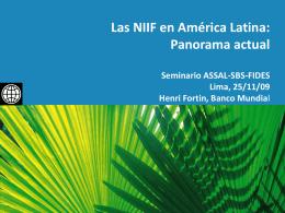 Las NIIF en América Latina - Superintendencia de Banca y Seguros