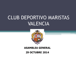 Asamblea Deportes 2014 Info