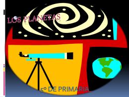 LOS PLANETAS - ceip cardenal cisneros
