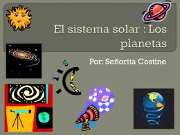 El sistema solar : Las planetas