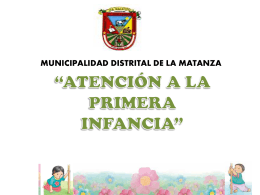 Diapositiva 1 - Municipalidad Distrital de La Matanza