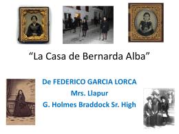 La Casa de Bernarda Alba PPT (2157101)
