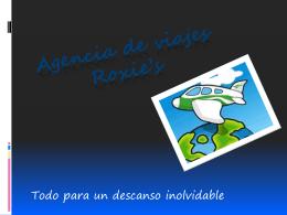 Agencia de viajes RoxiE`s