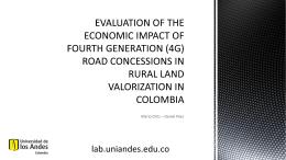 Evaluación de impacto de proyectos de infraestructura