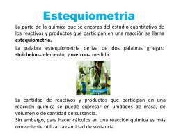 04 Estequiometria