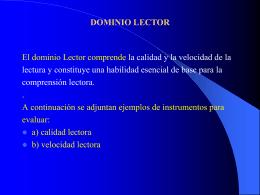 dominio Lector
