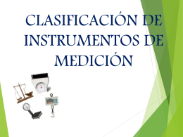 Clasificación instrumentos de medición
