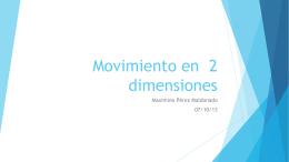 Movimiento en 2 dimensiones