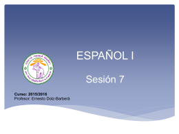 Sesión 7 - CMU Español