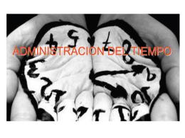 ADMINISTRACIÓN DEL TIEMPO - Bertha Beatriz Cisneros Vargas
