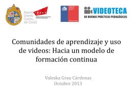 Comunidades de aprendizaje y uso de videos de clase