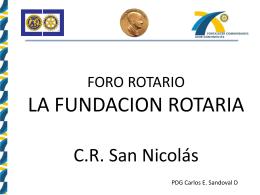 la fundacion rotaria - Club Rotario San Nicolás de los Garza