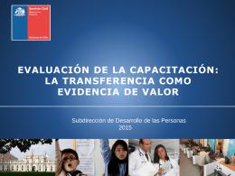 Presentación Aspectos Relevantes del Proceso de Validación 2015