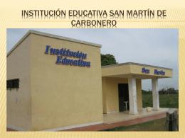 institución educativa san martín de carbonero