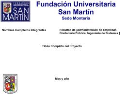 Fundación Universitaria San Martín Sede Montería