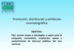 Promoción y Distribución - Foro Del Cine Venezolano