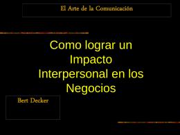 Arte de la Comunicación