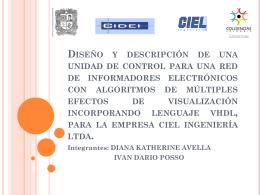 Diseño y descripción de una unidad de control para una red de