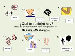¿Qué te duele(n) hoy? - SpanishForHealthCareProfessionals
