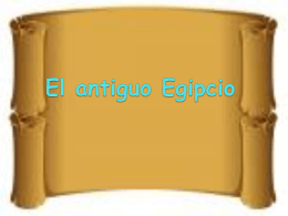 El antiguo Egipcio esporian