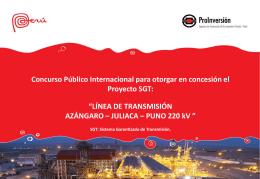 Línea de Transmisión Azángaro - Juliaca - Puno 220 kV