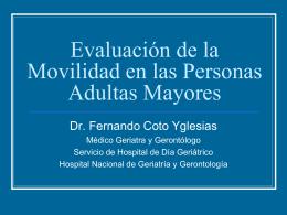 Movilidad_SG2010 - Geriatría Clínica y Académica