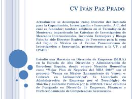 CV Iván Paz Prado