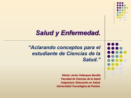 Concepto de salud - Univirtual - Universidad Tecnológica de Pereira