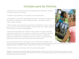 Consejos para Victimas