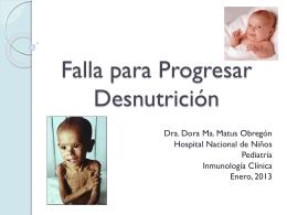 Falla para Progresar Desnutrición