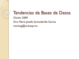 Tendencias de Bases de Datos
