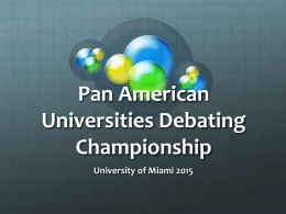 Pan American Universities Debating Championship