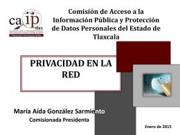 Privacidad en la Red (María Aída González Sarmiento CAIPTLAX)