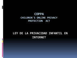 Presentacion Ley COPPA