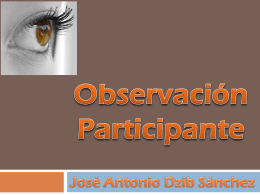 Presentación Observacion-Participante - PSICO