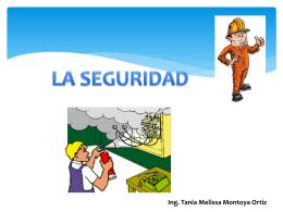 LA SEGURIDAD Ing. Tania Melissa Montoya Ortiz