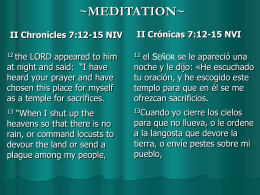 II Chronicles 7:12-15 NIV
