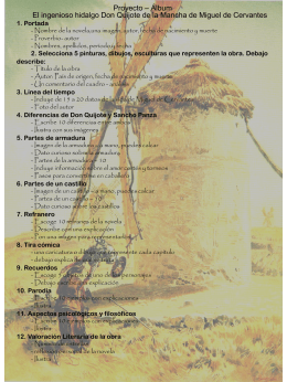 Proyecto * Álbum El ingenioso hidalgo Don Quijote de la Mancha de