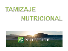 Tamizaje Nutricional