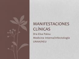 MANIFESTACIONES CLÍNICAS - Colegio Médico de Honduras